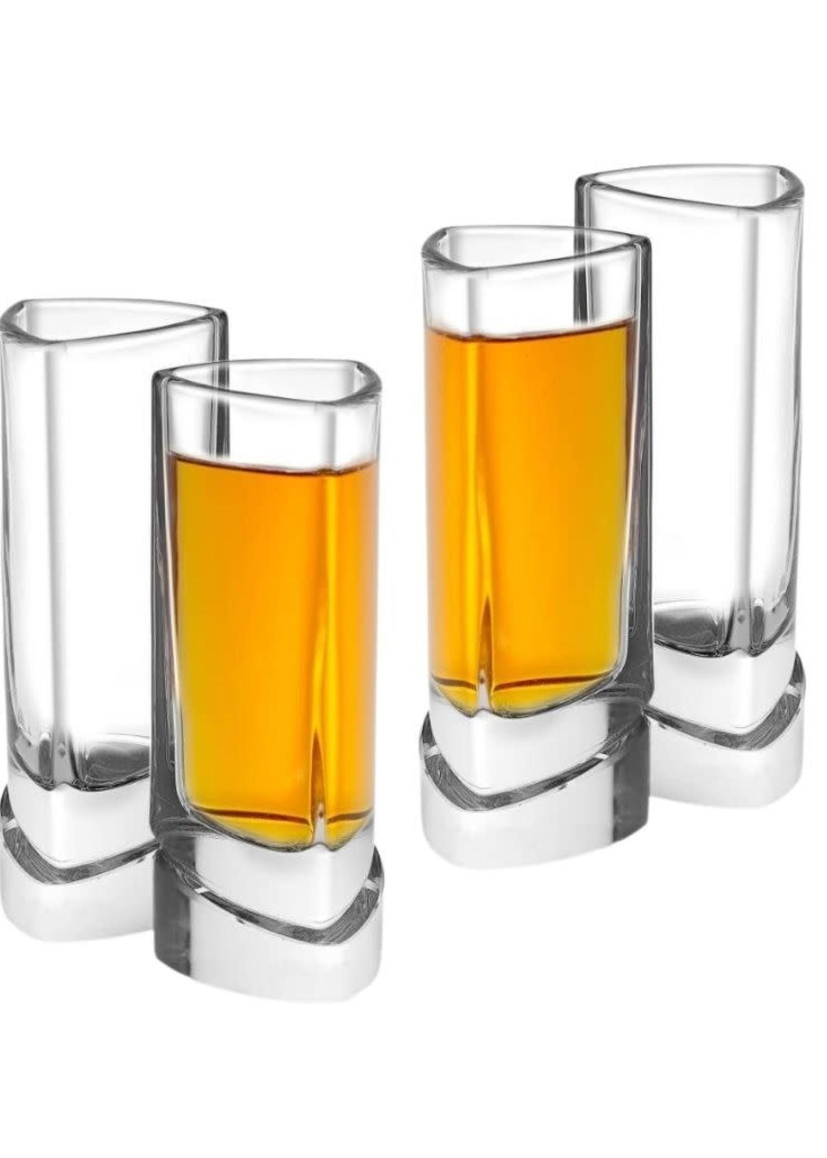 Aqua Vitae Triangle Shot Glasses - Set of 4