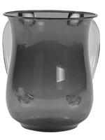 Acrylic Grey Washing Cup w Clear Handle