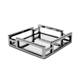 Square Mirror Napkin Holder Layered Loop Design