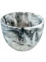 Deep Small Bowl - Black Swirl