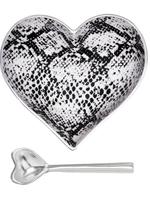 Happy Heart Bowl w Spoon // Snake
