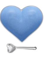 Happy Heart Bowl w Spoon // Powder Blue