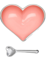 Happy Heart Bowl w Spoon / Baby Pink