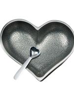 Happy Heart Bowl w Spoon // Silver