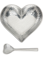 Happy Heart Bowl w Spoon // Hammered