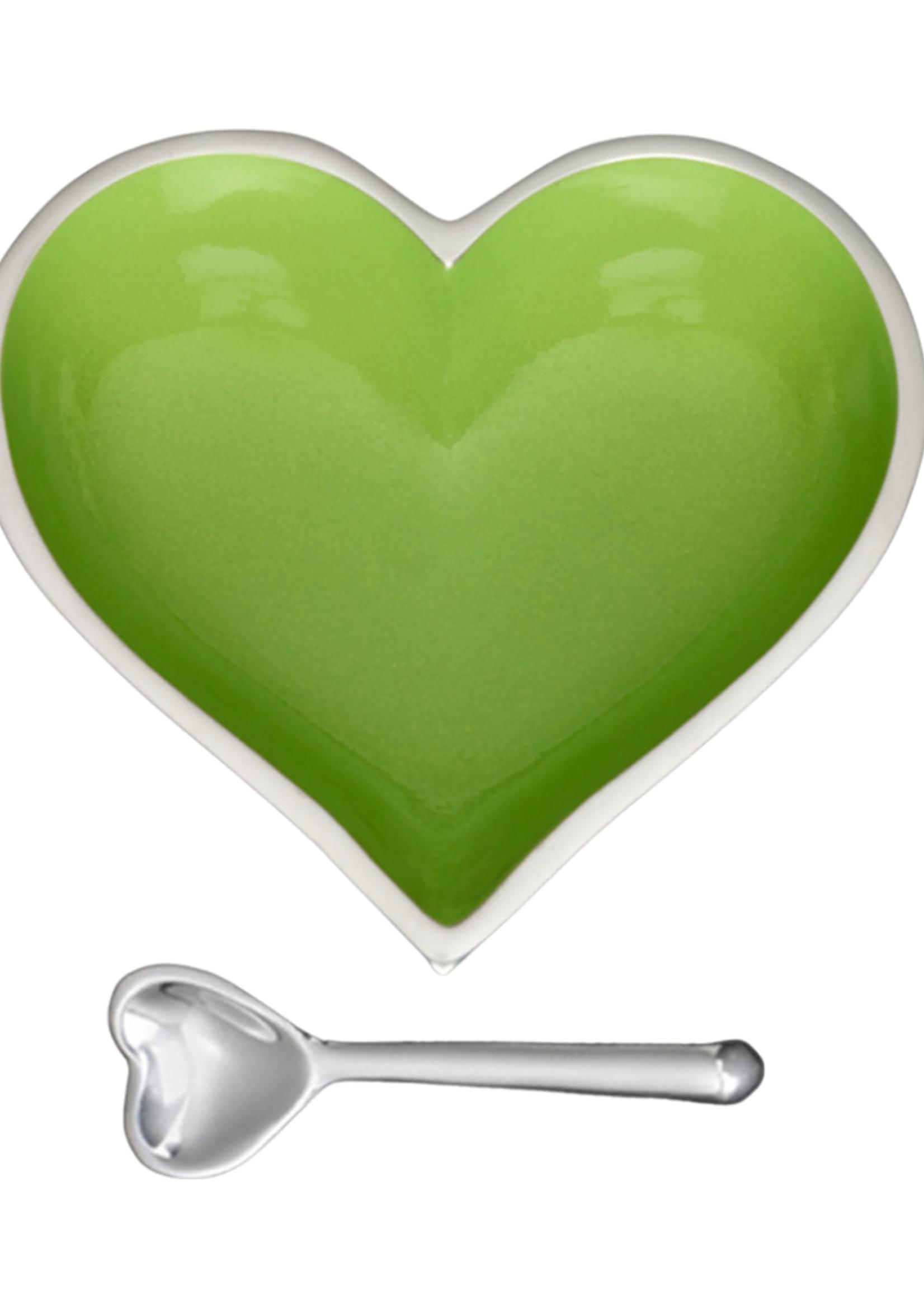 Happy Heart Bowl w Spoon // Granny Smith