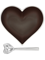 Happy Heart Bowl w Spoon // Espresso