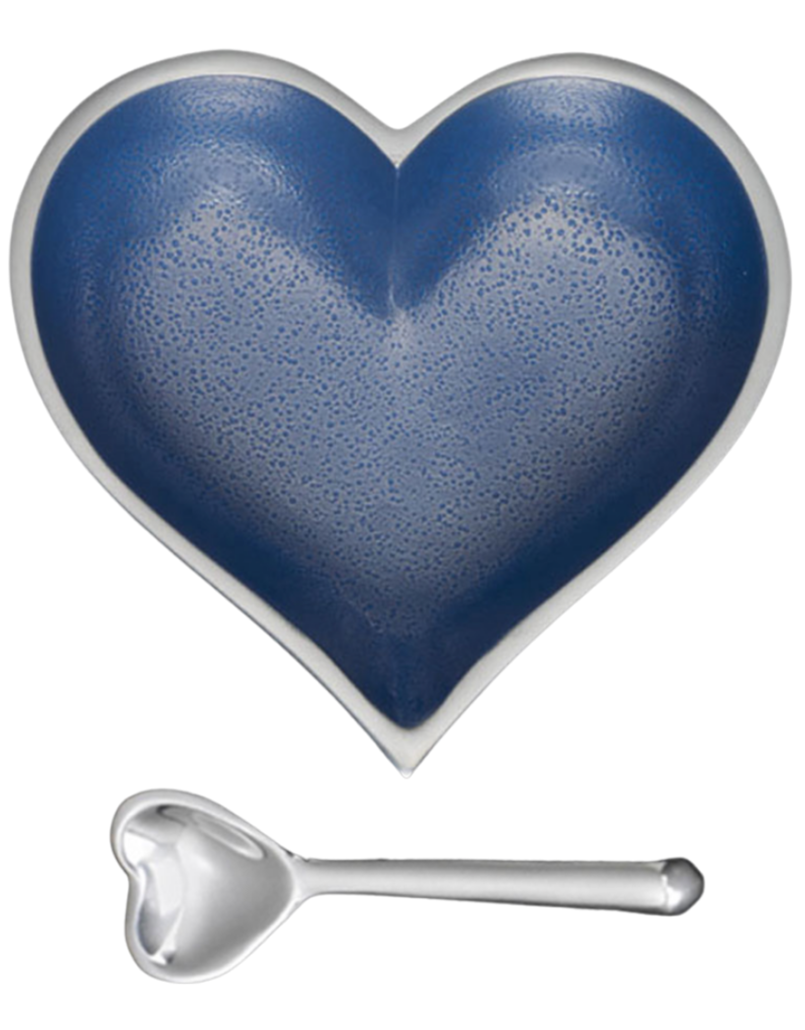 Happy Heart Bowl w Spoon // Denim