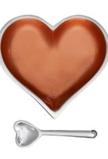 Happy Copper Heart With Heart Spoon 100198COPR