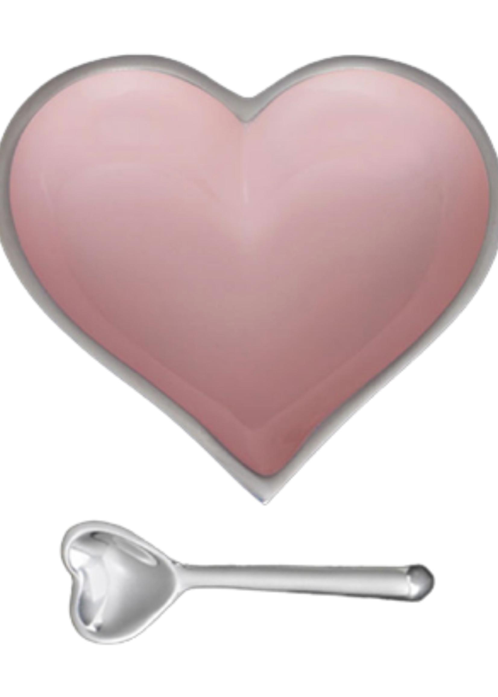 Happy Heart Bowl w Spoon // Blush