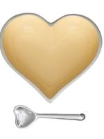 Happy Heart Bowl w Spoon // Banana Cream