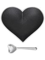 Happy Heart Bowl w Spoon // Matte Black