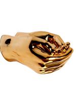 Criss Cross Hand Tray // Gold