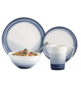 Brilliant Signature Blue Casual Dinnerware Set- 16 pc Set