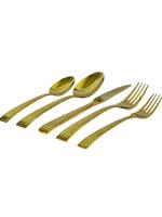 Vikko Crown Lava // Gold Flatware- 20 pc
