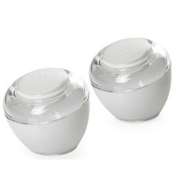 White Acrylic Salt Shakers