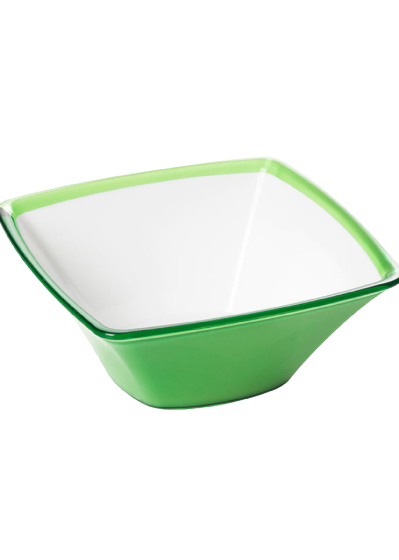 Square Large Acrylic Bowl // Green