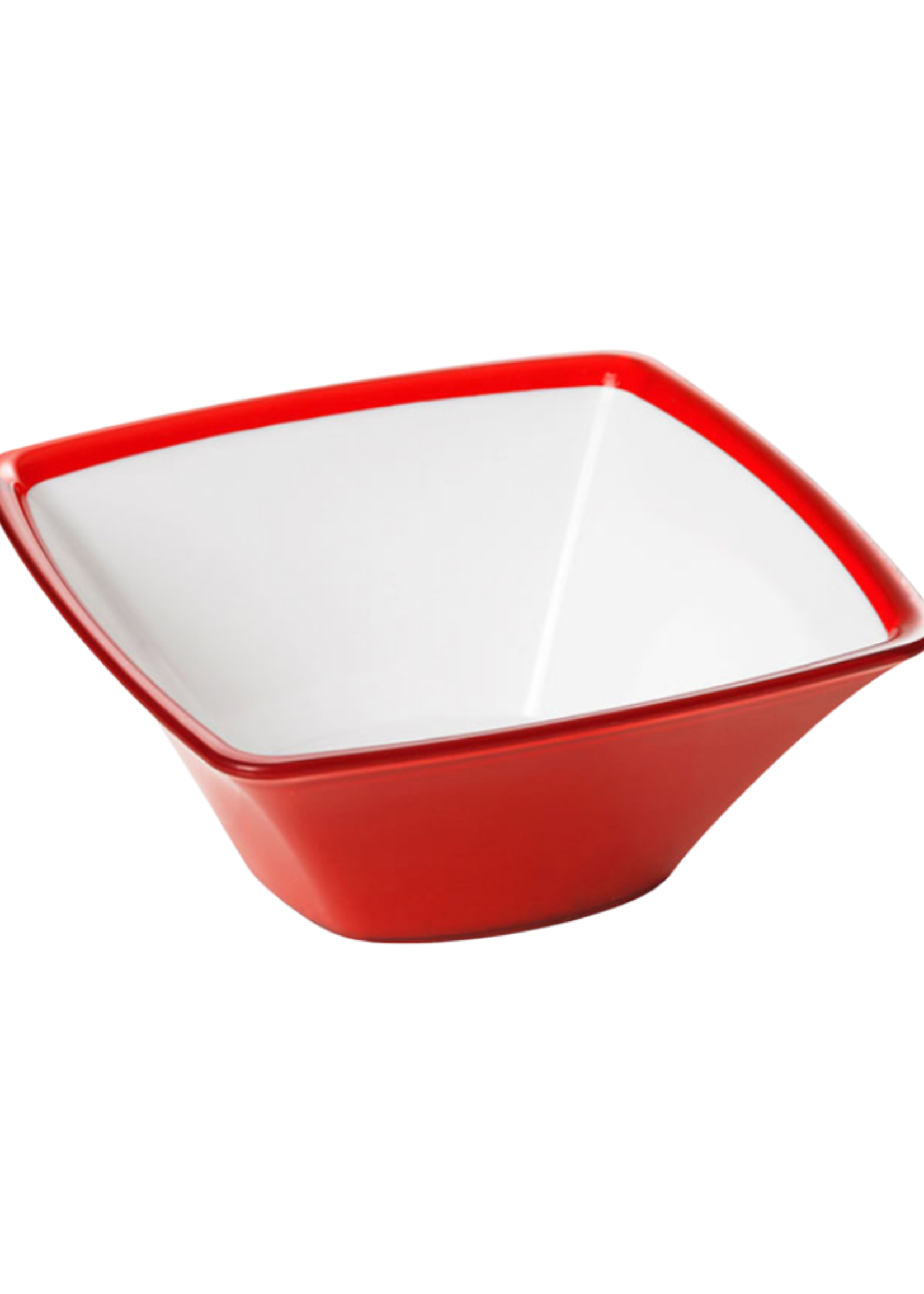 Square Small  Acrylic Bowl // Ruby Red