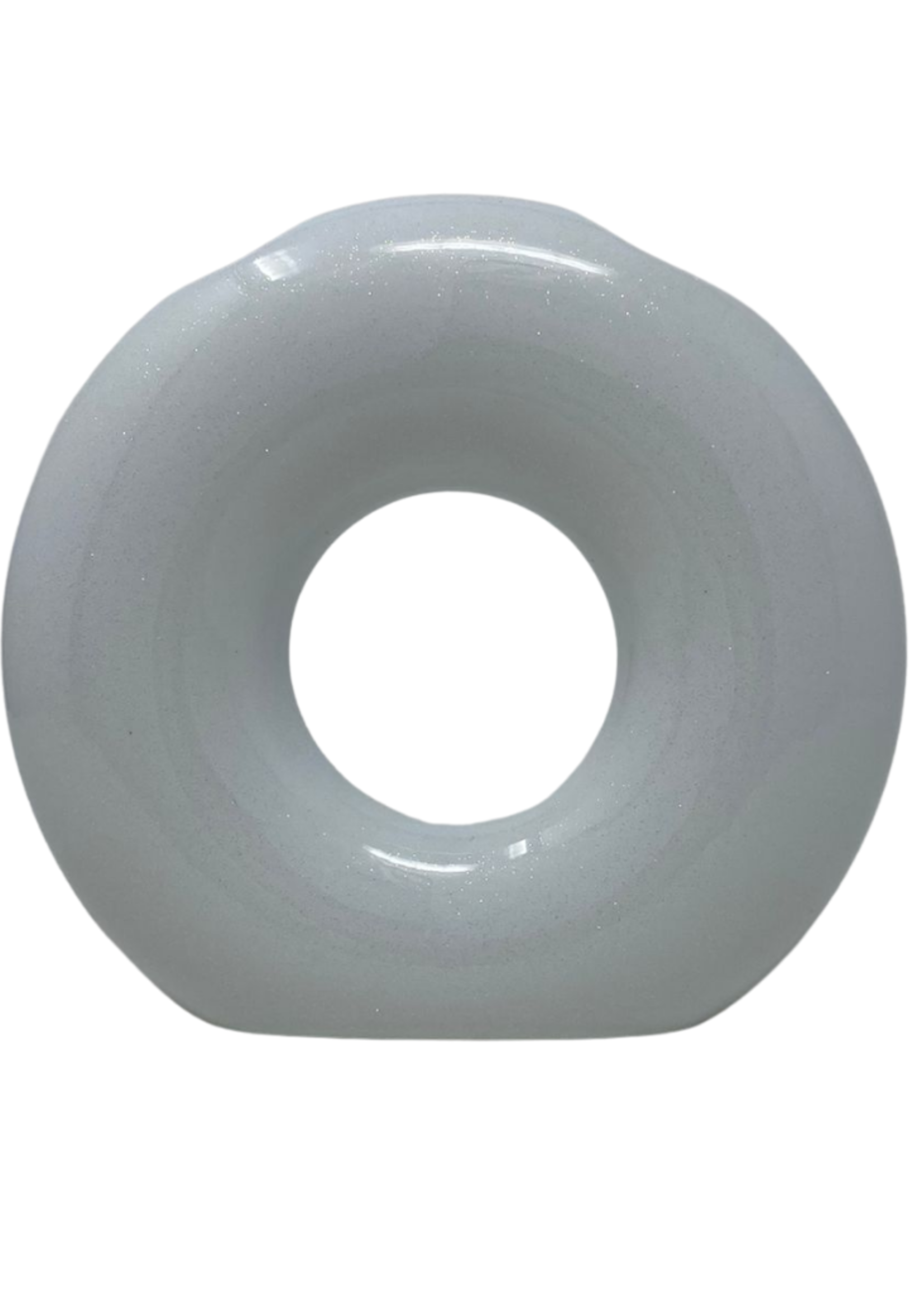 O Washing Cup | Vase White Glitter