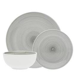 Spiral Grey Dinnerware -12 pc Set