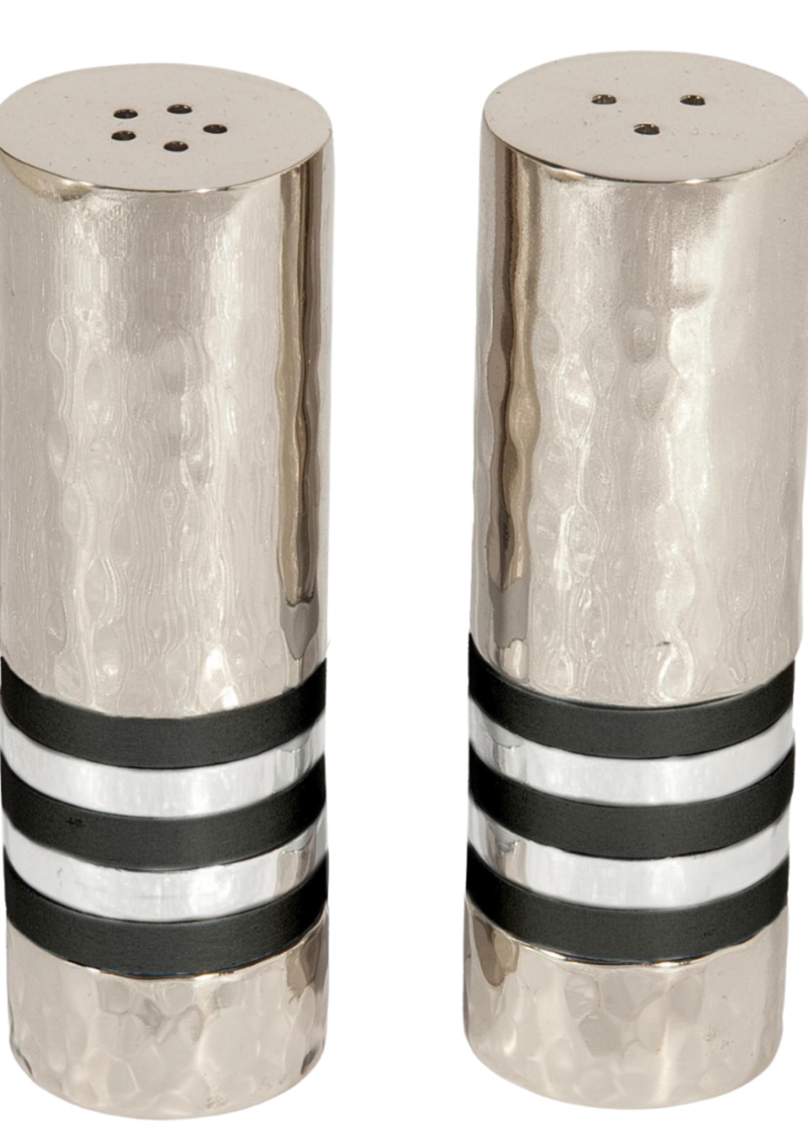 Emanuel Salt & Pepper Shaker Set // Black Rings