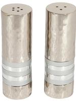 Emanuel Salt & Pepper Shaker Set // Silver Rings