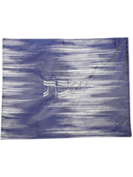Double Sided Jacquard Challah Cover // Blue & Silver