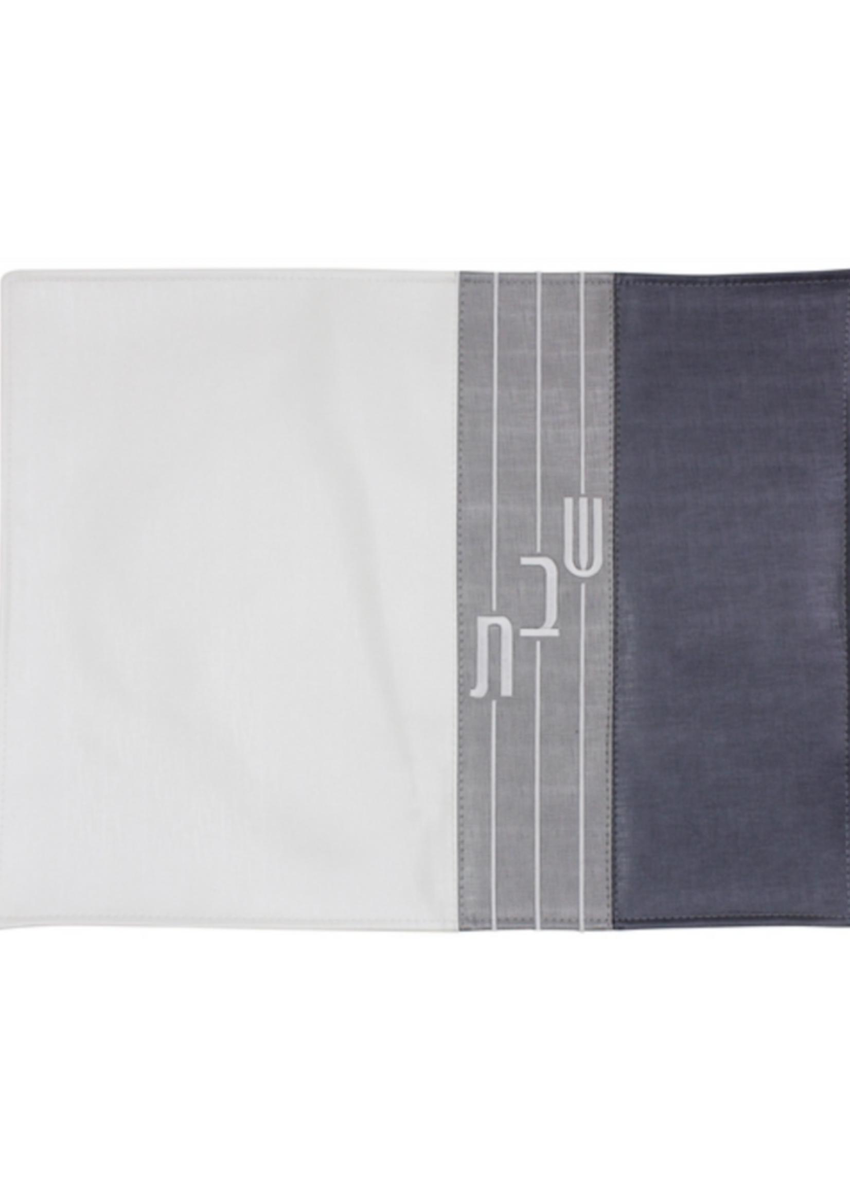 Vinyl Challah Cover // Triple Grey Stripe