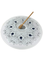 Acrylic Lazy Susan with Honey Cup & Dipper // Black Apple Design