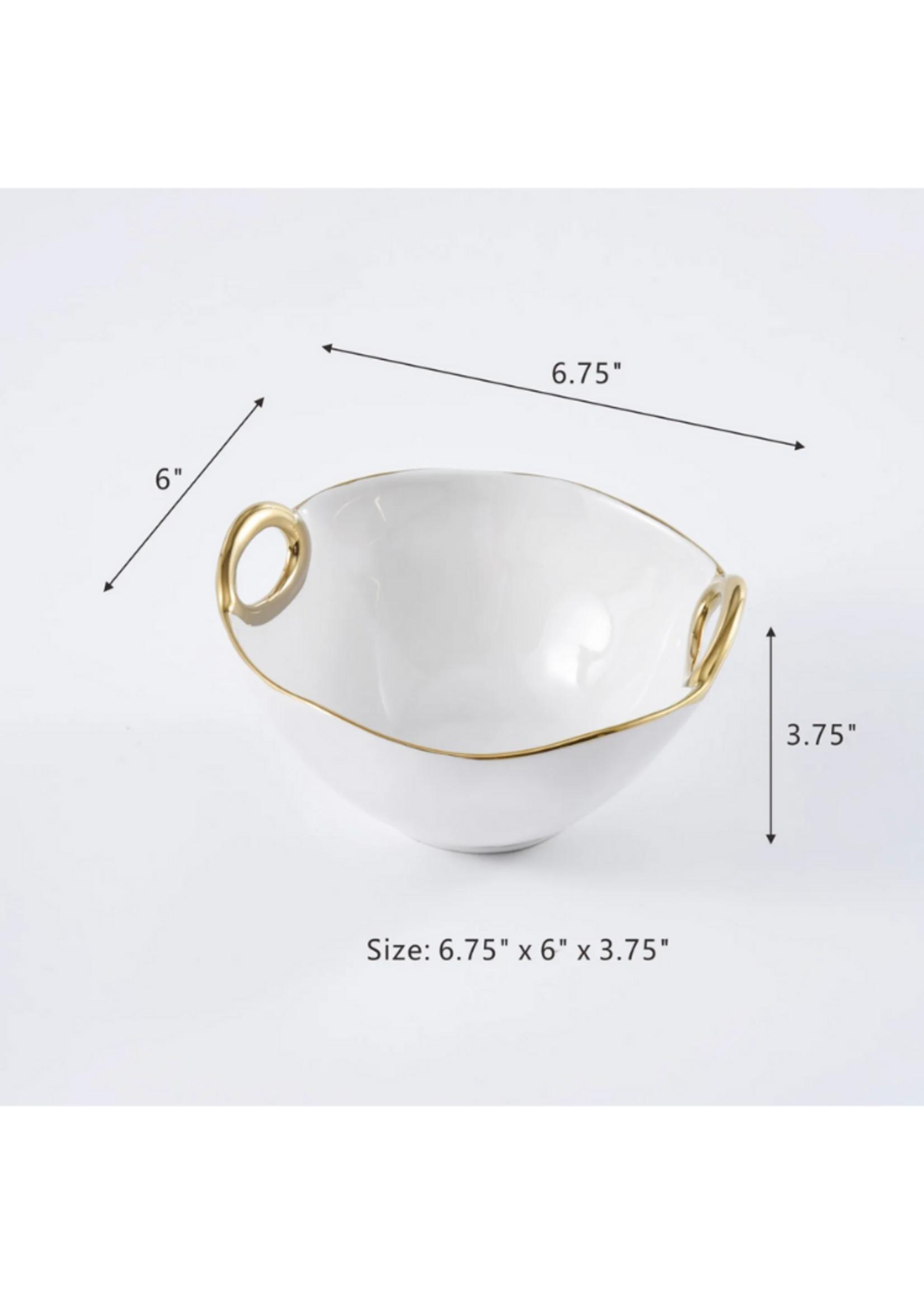 Small Bowl // White & Gold