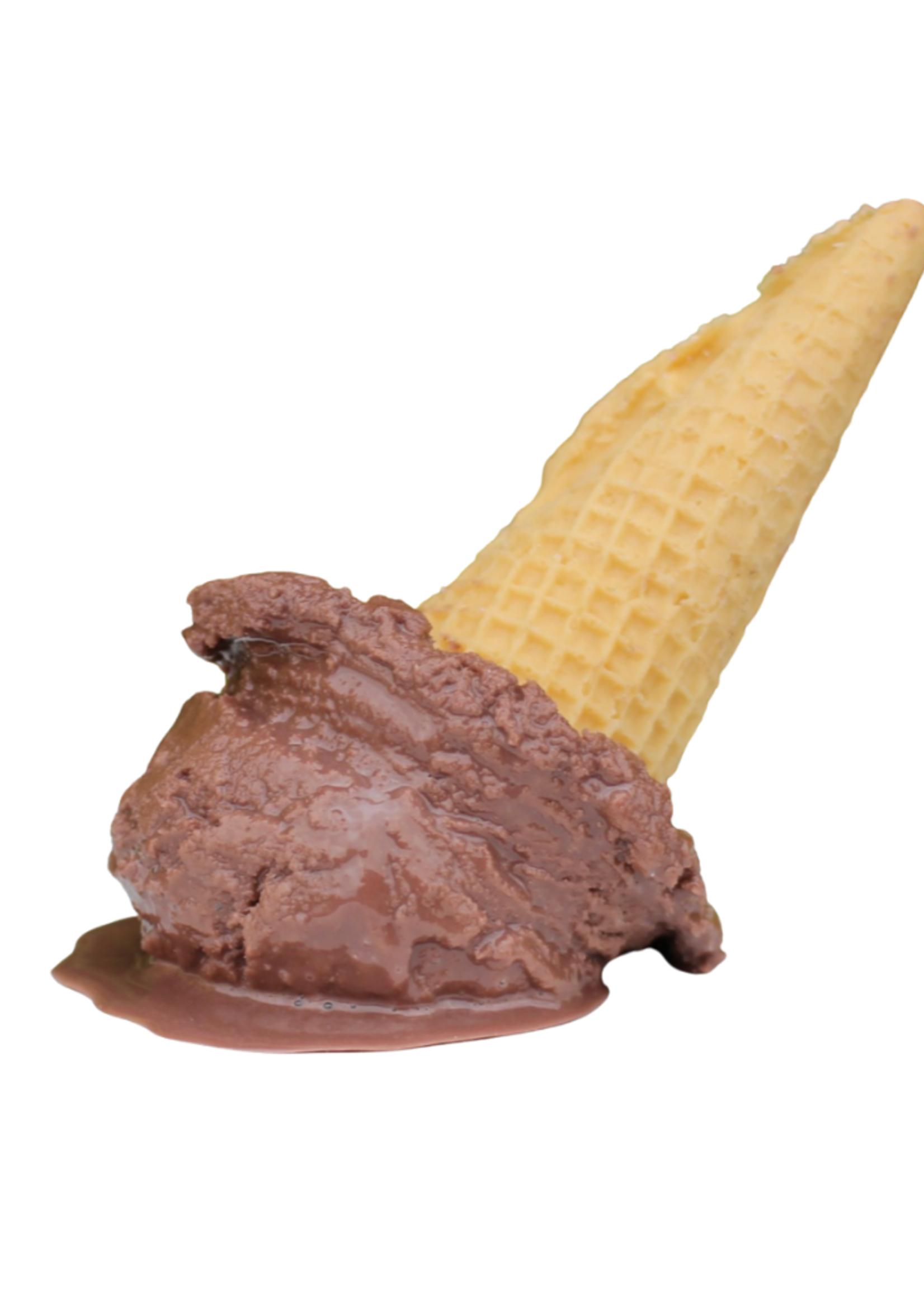 Melting Ice Cream Cone // Chocolate