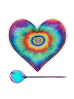 Medium Groovy Heart Bowl With Iridescent Spoon