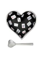 Happy Heart Bowl w/ Spoon // Mah Jong