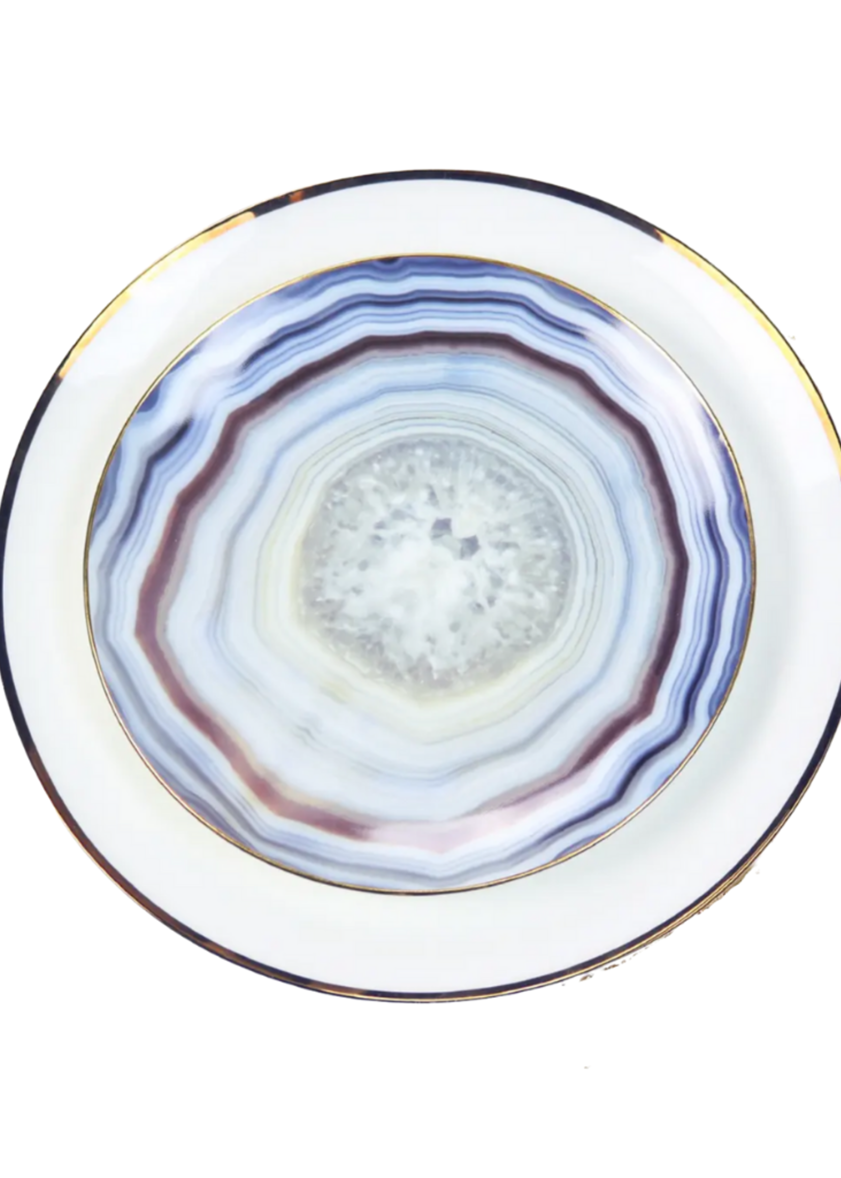 Blue Agate Salad Plate // Set of 4