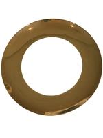Shiny Wide Gold Rim Dinner Plate // Set of 4