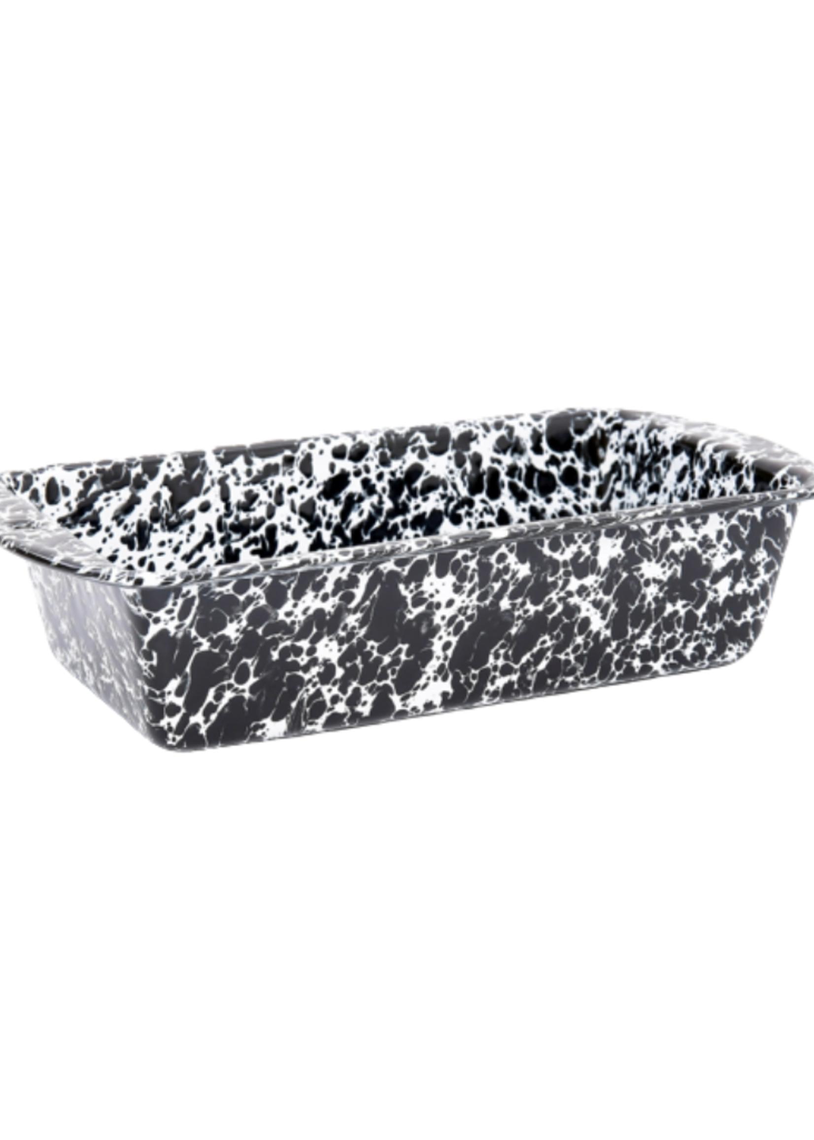 Splatter Loaf Pan // Black Marble