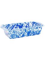 Splatter Loaf Pan // Blue Marble