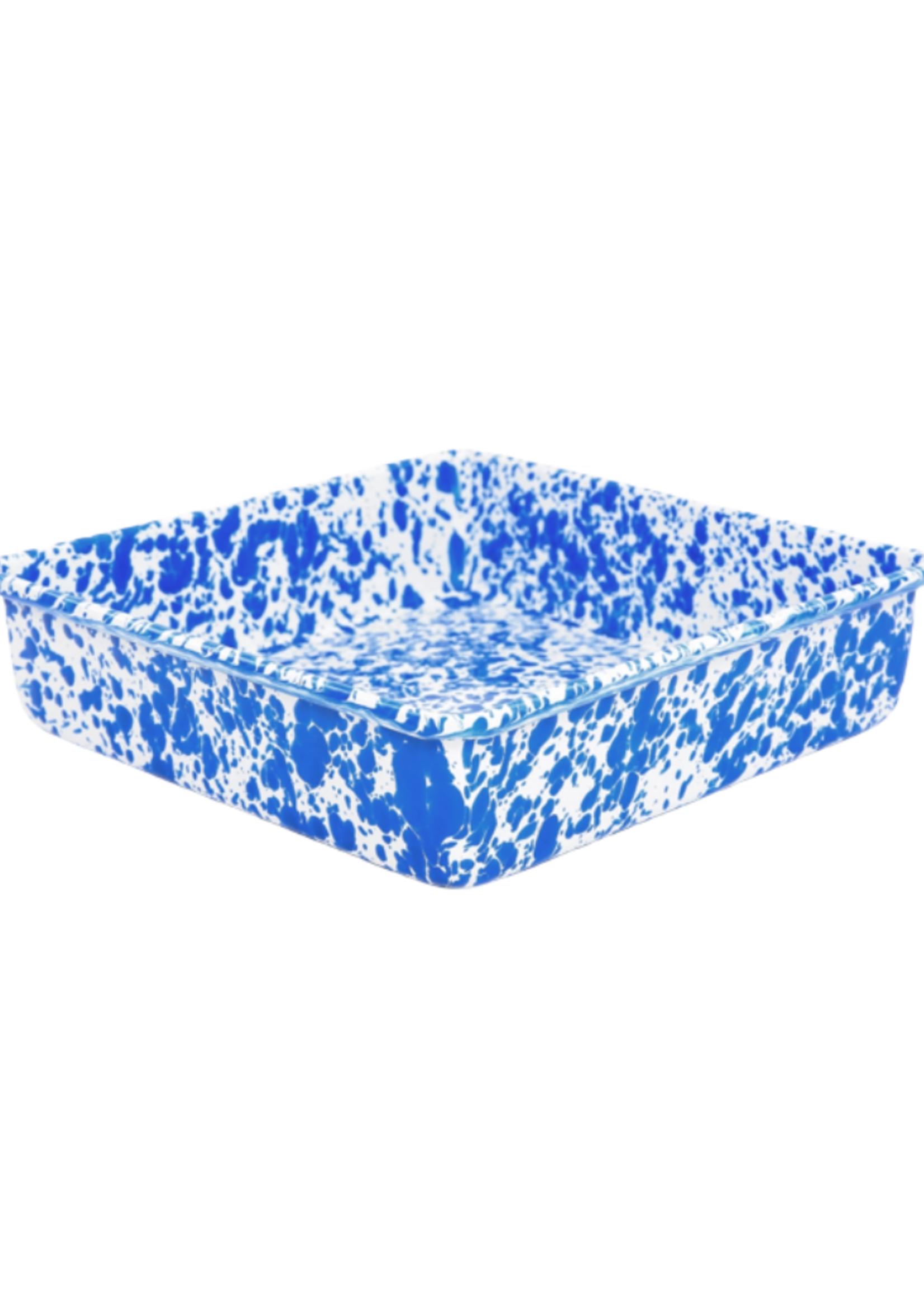 """9"""" Splatter Brownie Pan // Blue Marble"""