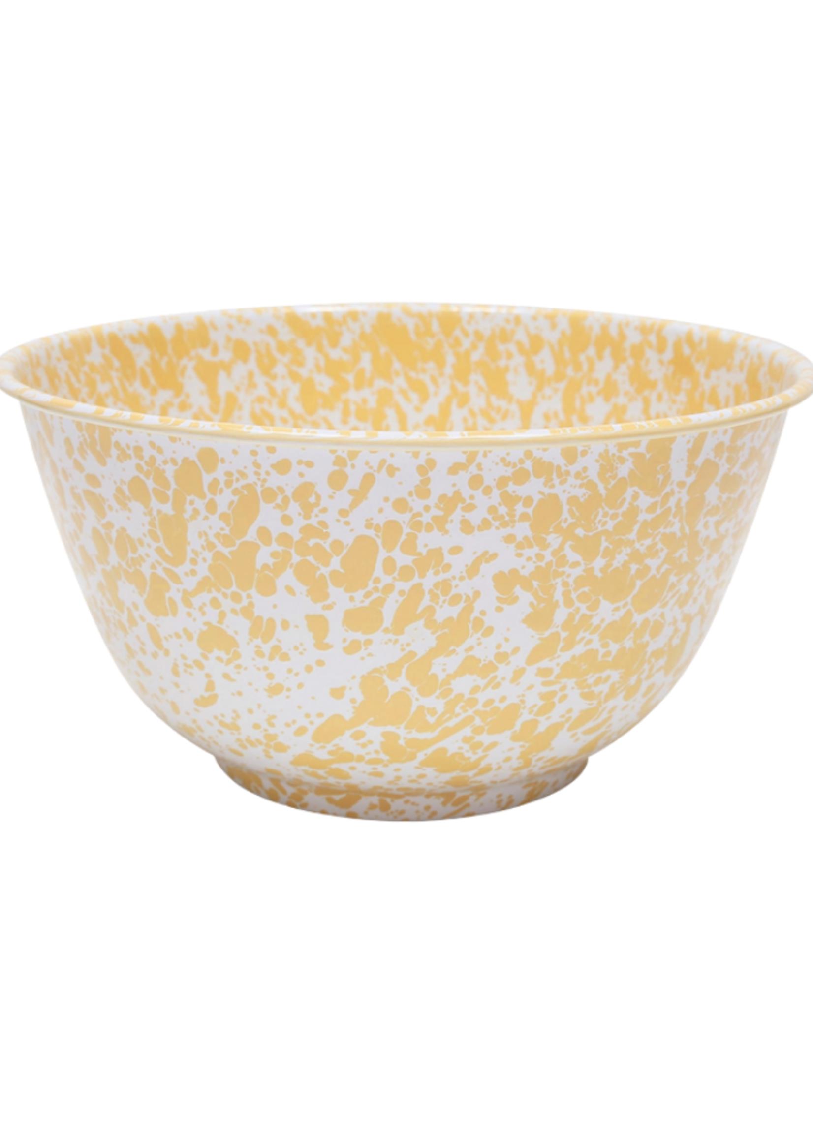 Splatter Large Salad Bowl // Yellow Marble