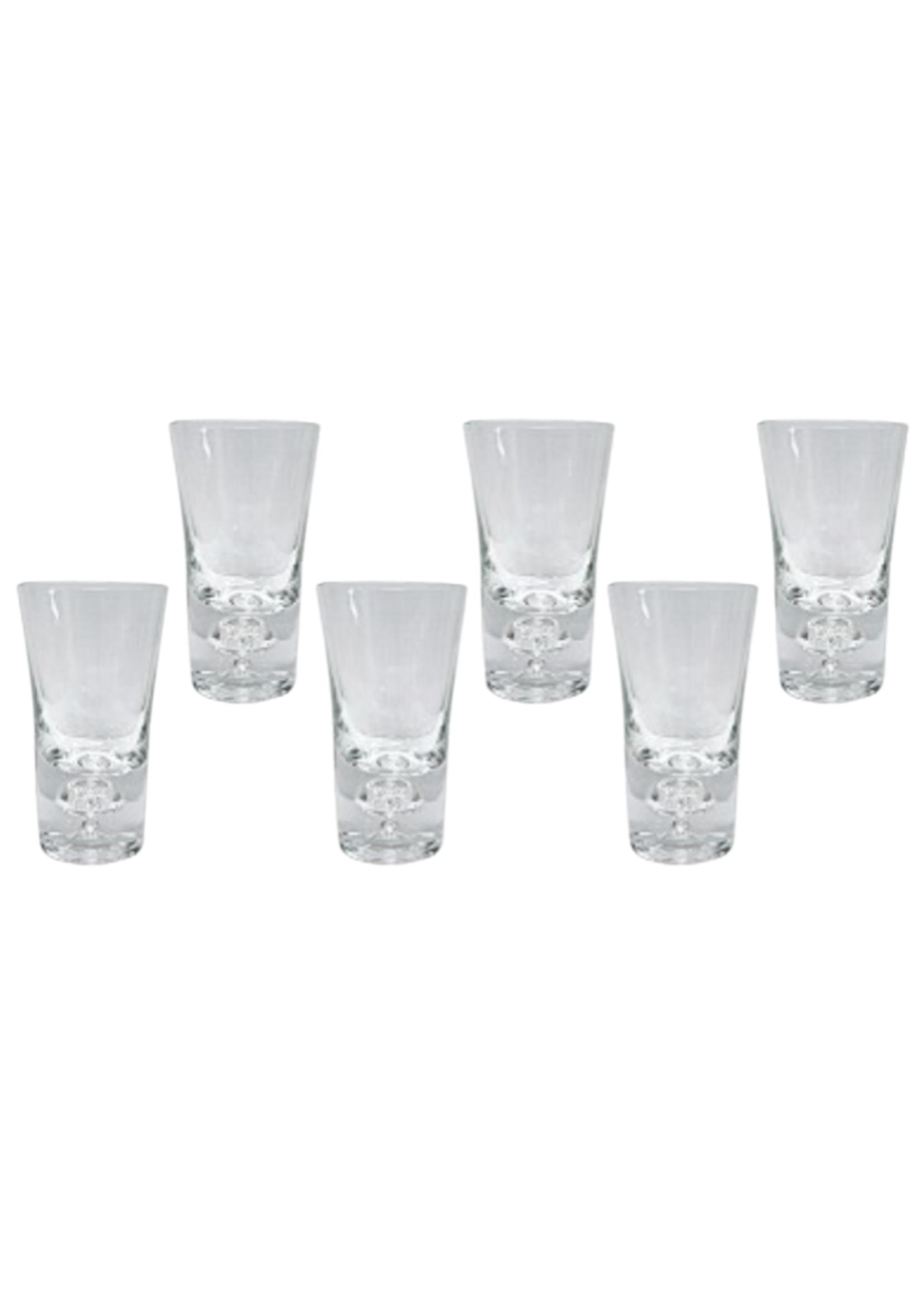Shot Glasses w Crystal Filled Base