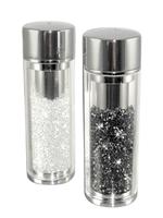 Crystal Filled Salt & Pepper Shaker Set