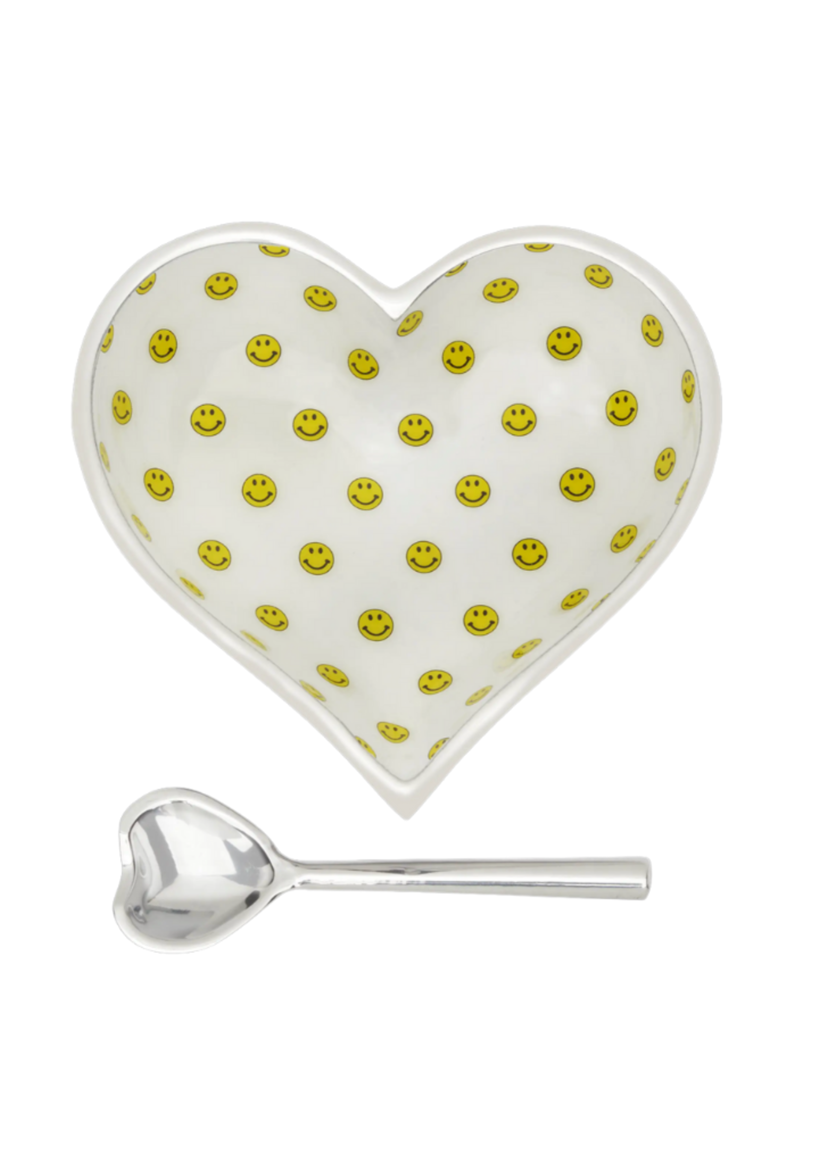 Happy Heart Bowl w Spoon //  Lil Smiles