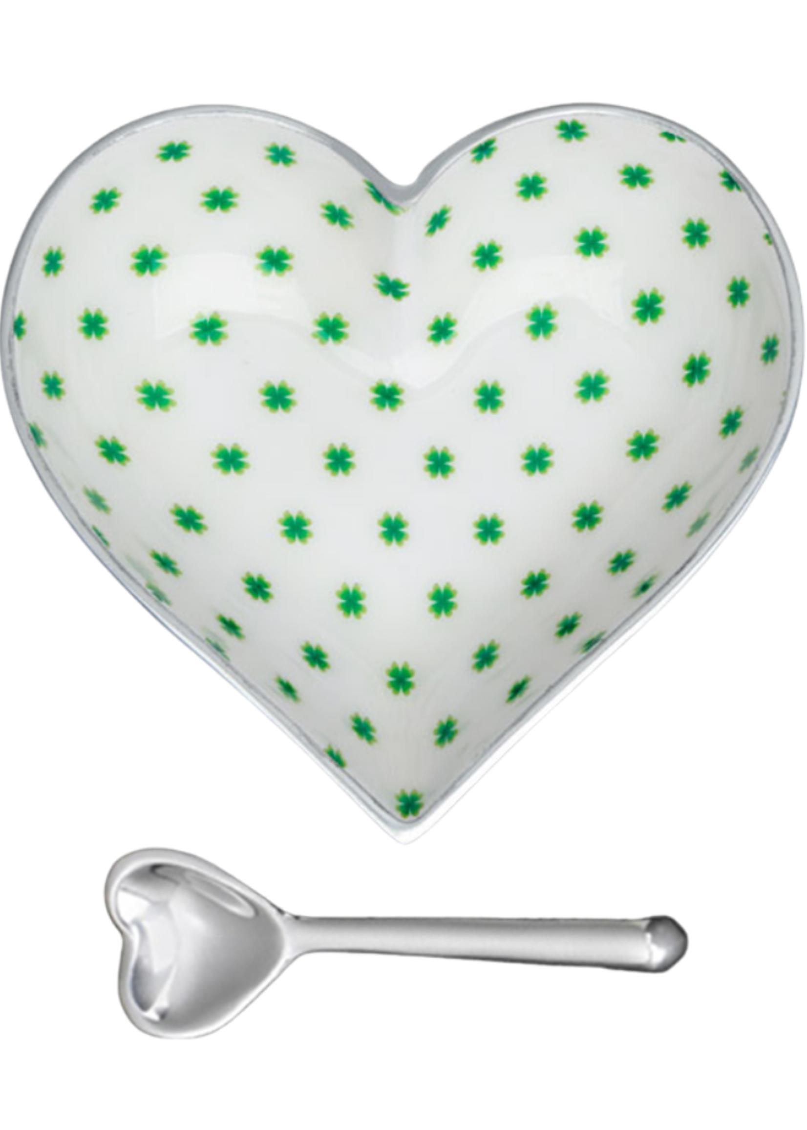 Happy Heart Bowl w Spoon // Lucky