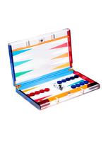 Acrylic Backgammon Set // MultiColor