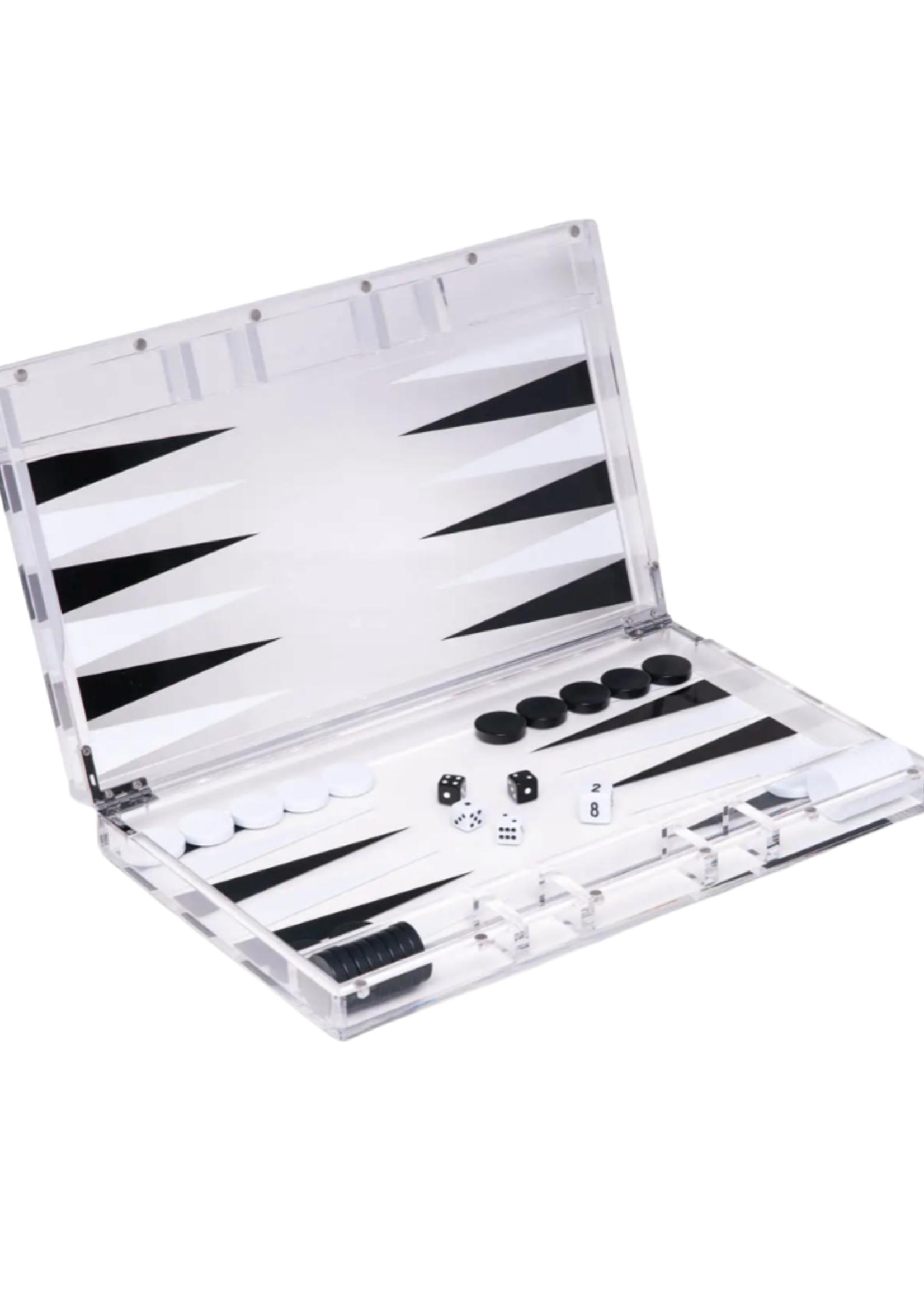Lucas Acrylic Backgammon Set