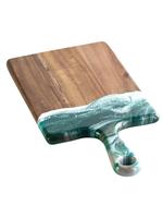 Small Acacia Resin Cheeseboards   Emerald Jewel