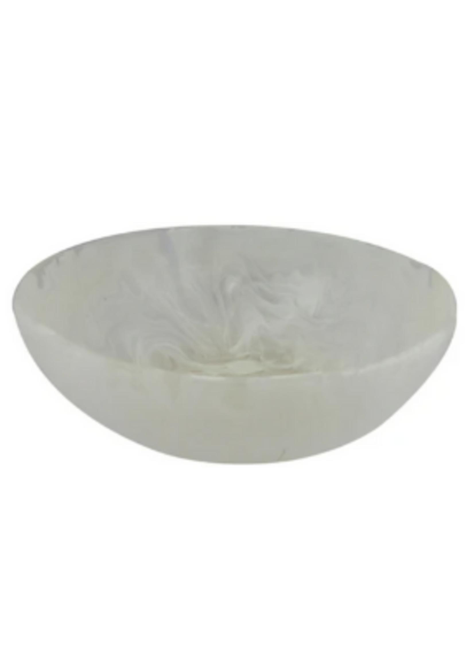 Wave Bowl Medium // White Swirl
