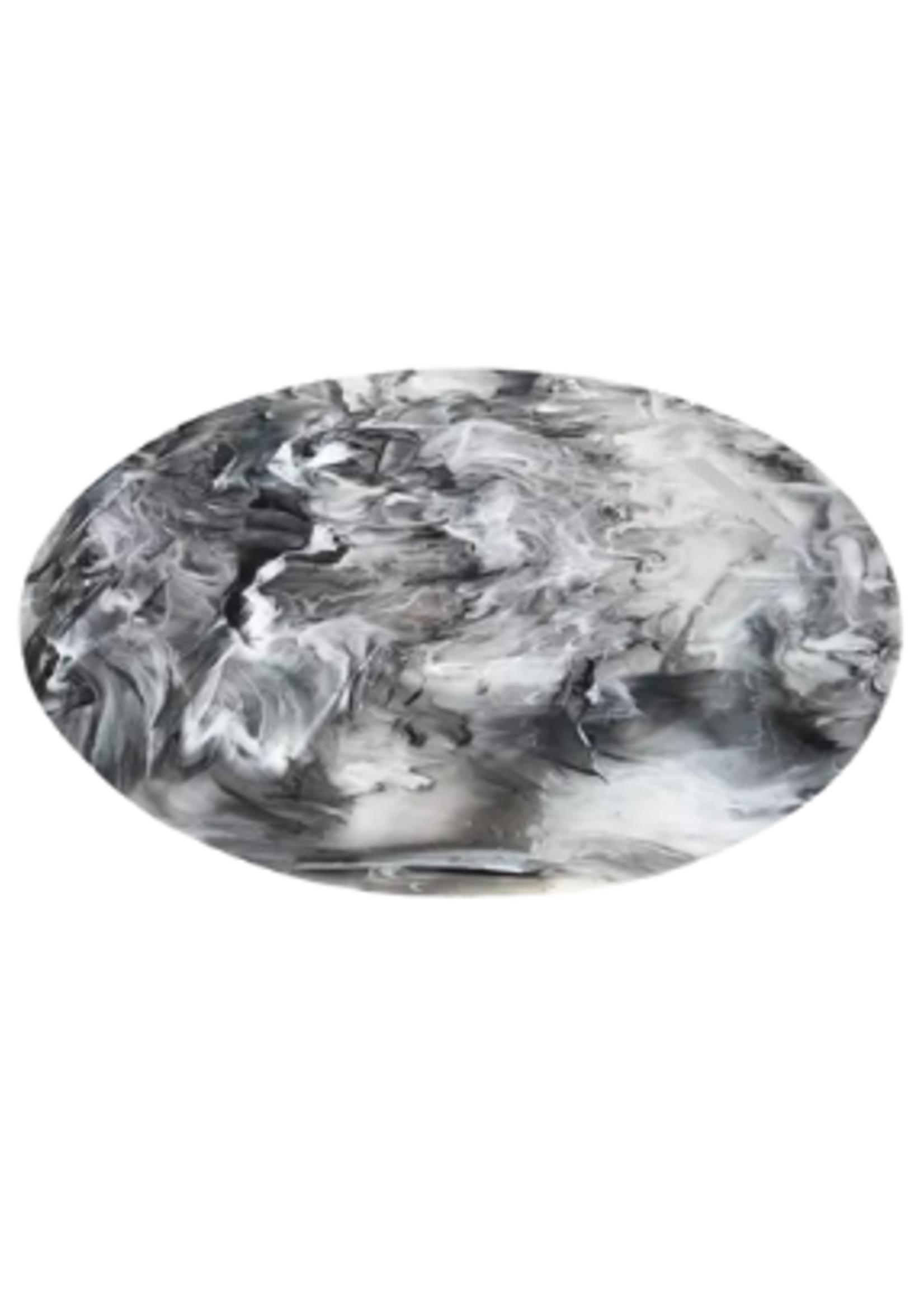 Round Chopping Board // Black Swirl