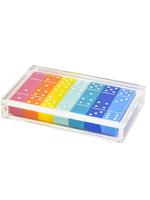Lucite Domino Set // Multi Color