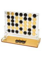 Lucite Connect 4 Set // Gold Base